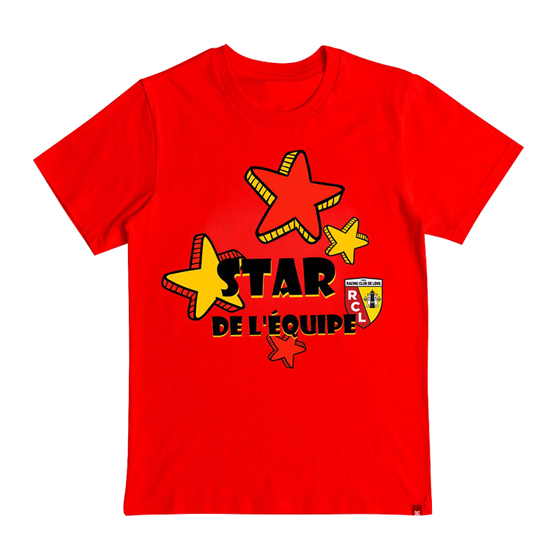 """T-SHIRT BÉBÉ """"STAR DE L'ÉQUIPE"""""""
