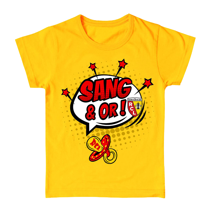 "T-SHIRT BÉBÉ ""SANG & OR"""