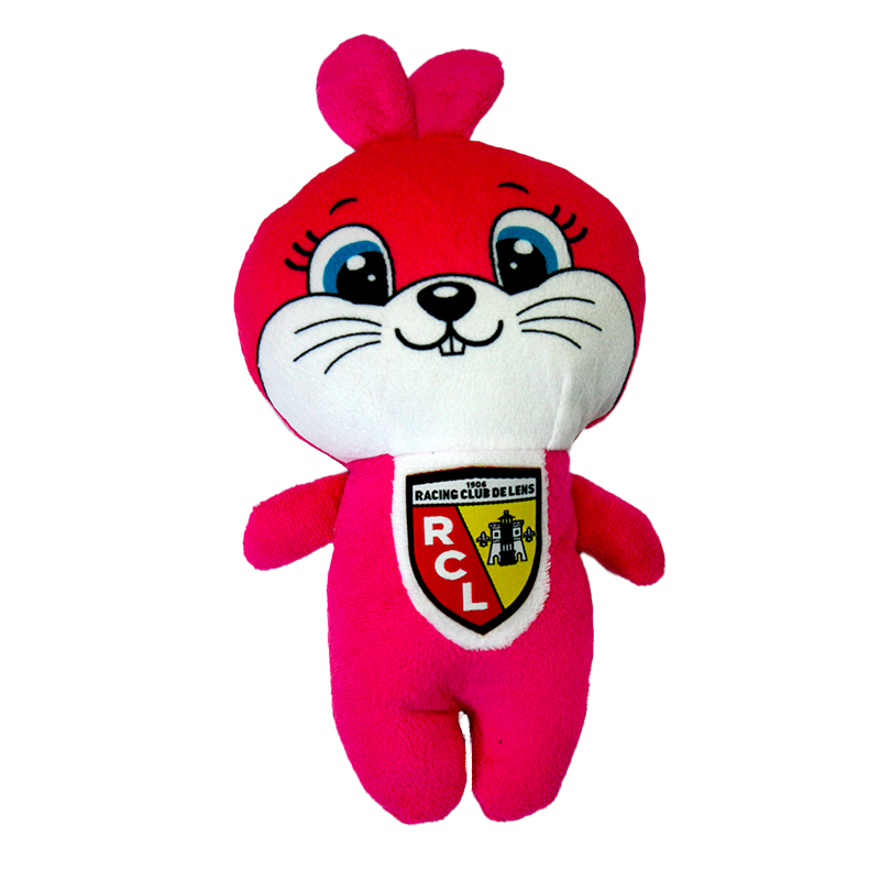 PELUCHE LAPIN ROSE RCL