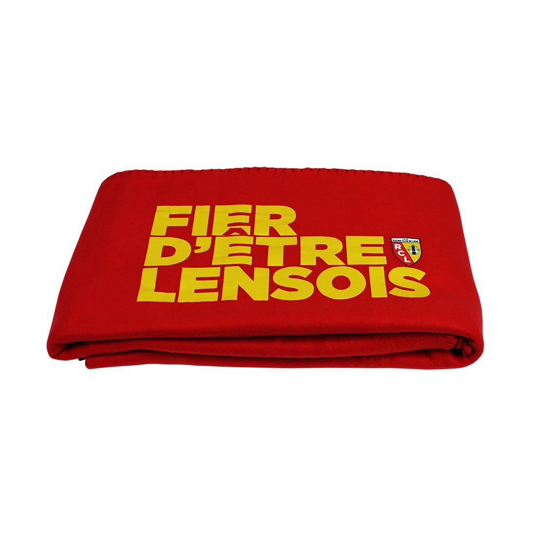 PLAID POLAIRE ROUGE FIER D ETRE LENSOIS