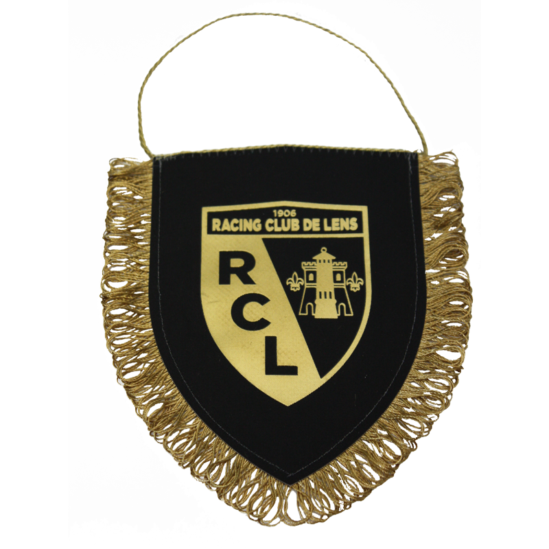 MINI-FANION BLASON RC LENS (NOIR ET OR)